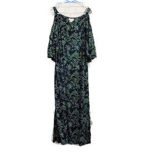 SOFT SURROUNDINGS Floral Cold Shoulder Dress PL